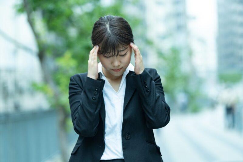 自律神経の乱れが現れた女性